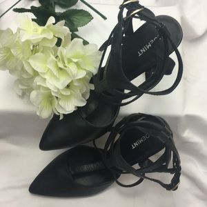 Black Strapped Pumps